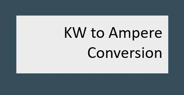 How to Convert Kw into Amps