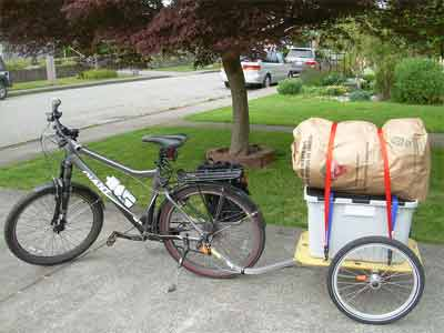 Step by step procedure of making a bike cargo trailer